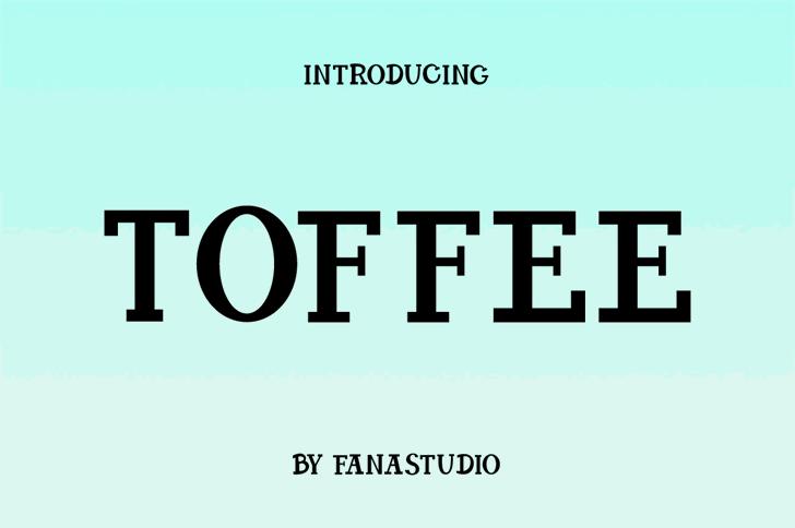 TOFFEE Font screenshot design