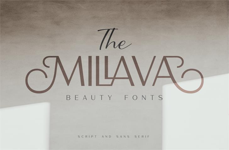 The Millava  DEMO Font poster