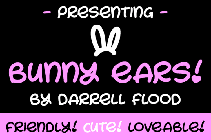 Bunny Ears Font text graphic