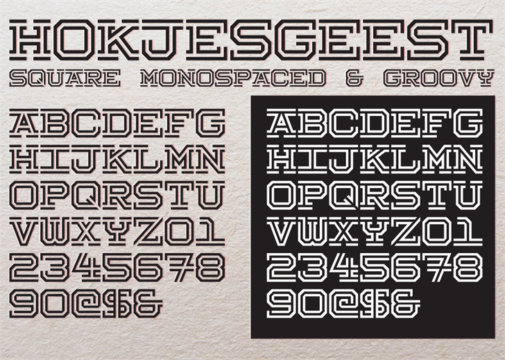Hokjesgeest Font text screenshot