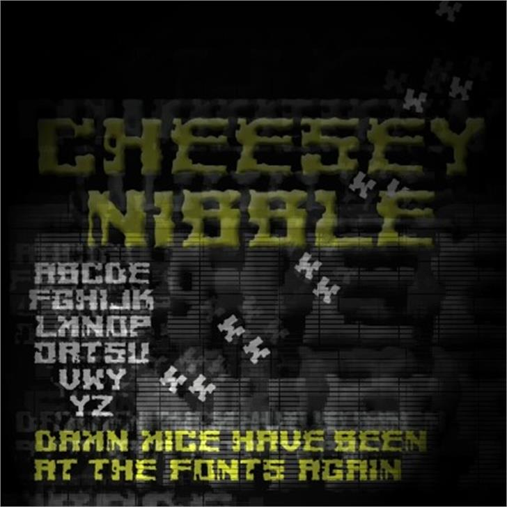 Cheesey Font screenshot electronics