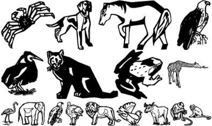 Zoobats Font text cartoon