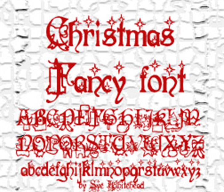 Christmas Fancy Font handwriting screenshot