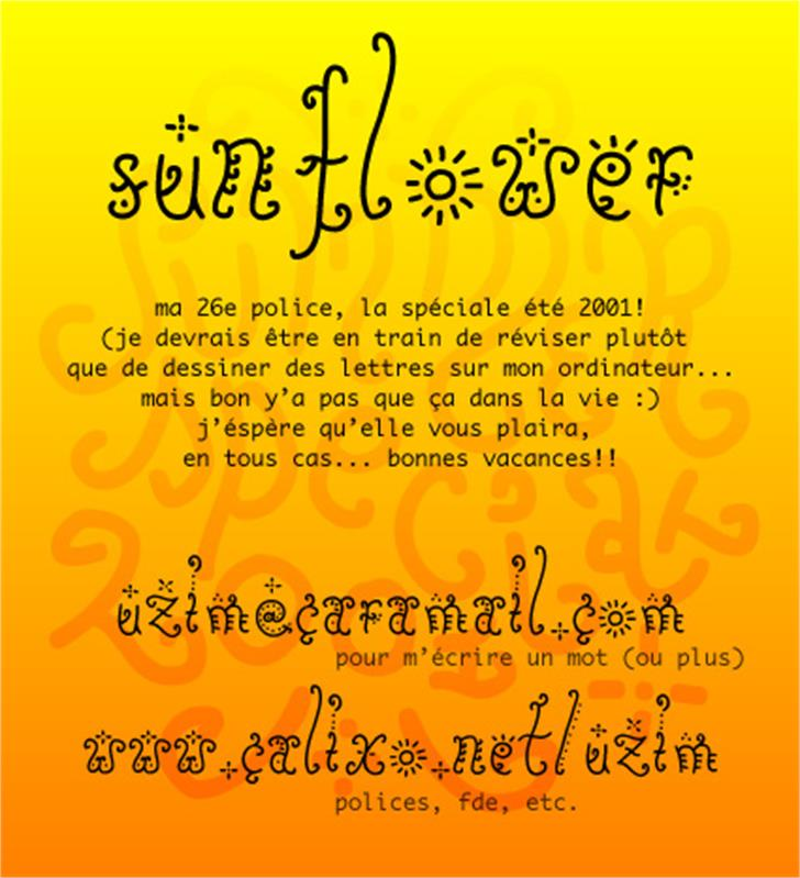Sunflower Font text screenshot