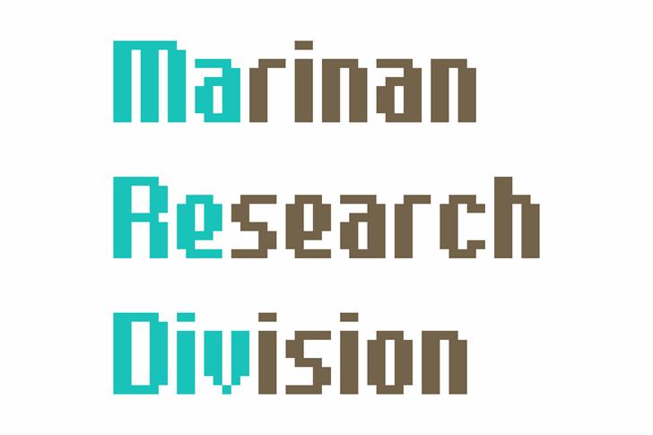 Marediv Font design graphic