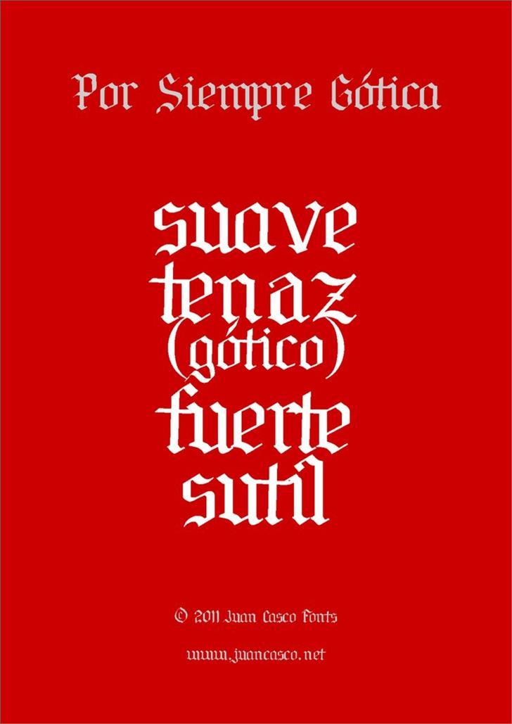 Por Siempre Gótica Font design typography
