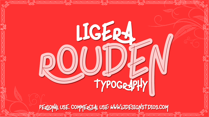 ligera rouden Font design graphic