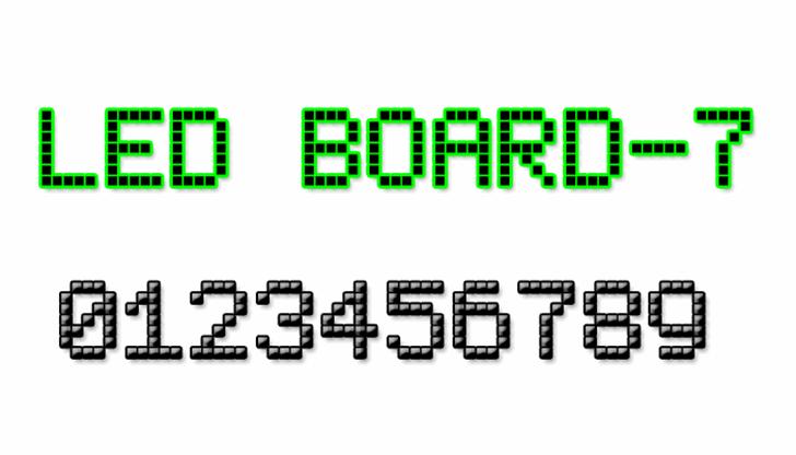 LED Board-7 Font screenshot font