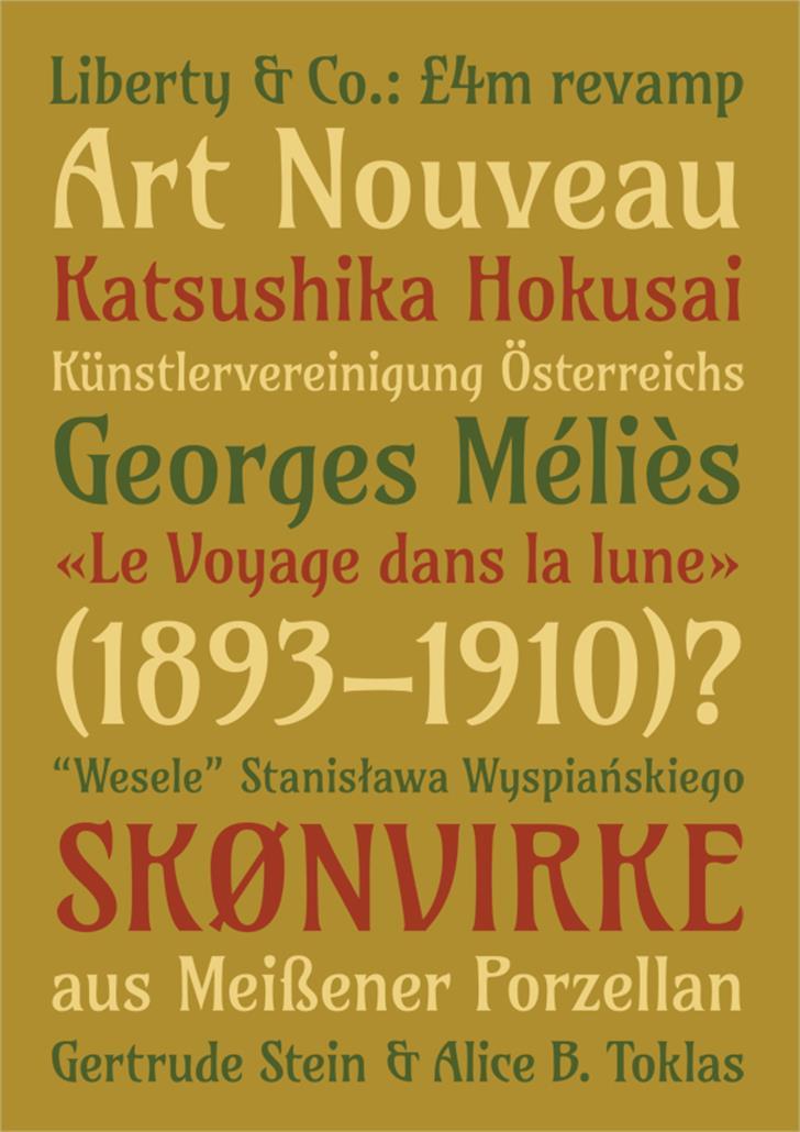 Amarante Font poster typography