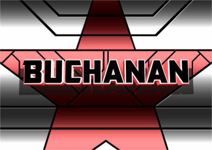 Buchanan Font screenshot cartoon