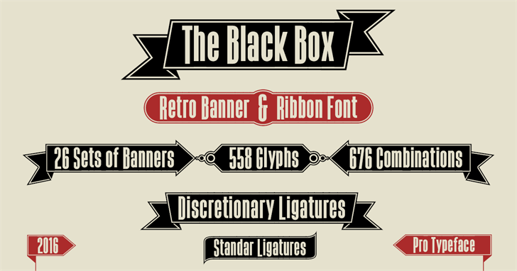 The Black Box Font text poster
