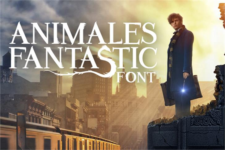 Animales Fantastic Font outdoor poster