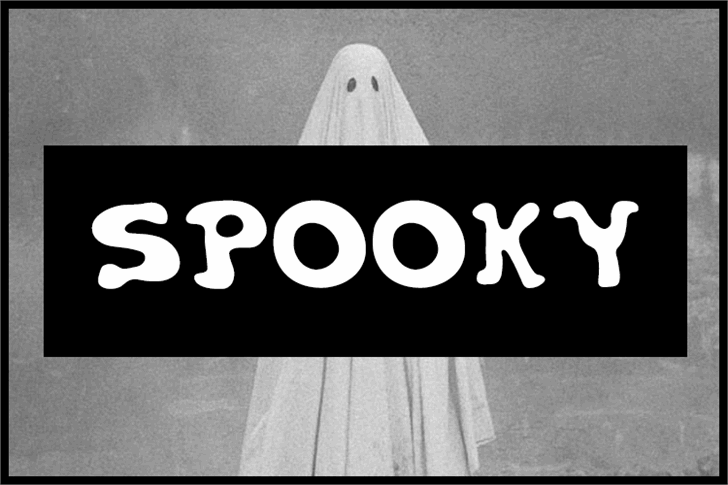 Spooky Font screenshot black and white