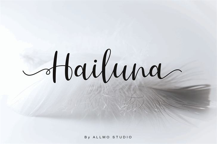 Hailluna Font handwriting design