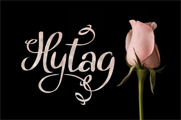 Hytag Font flower handwriting