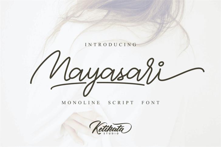 Mayasari Personal Use Only Font handwriting design