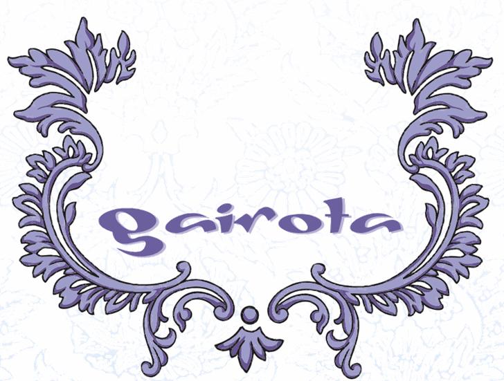 Gaivota Font drawing illustration