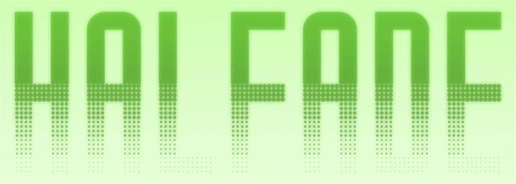Halfade Font screenshot design