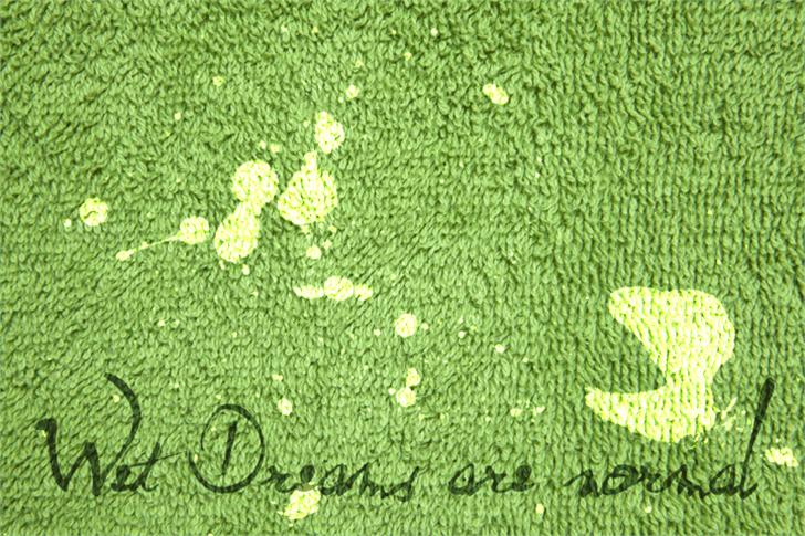 Wet Dream Font green plant