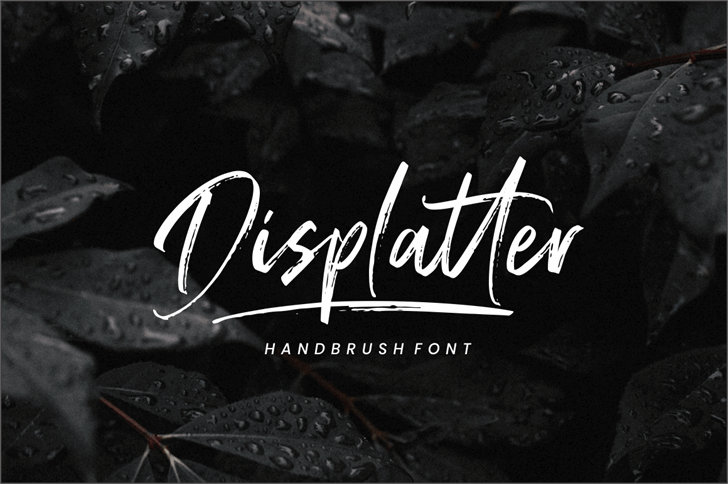 Displatter Font handwriting design