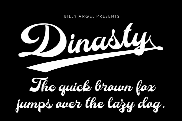 Dinasty Personal Use Font design typography