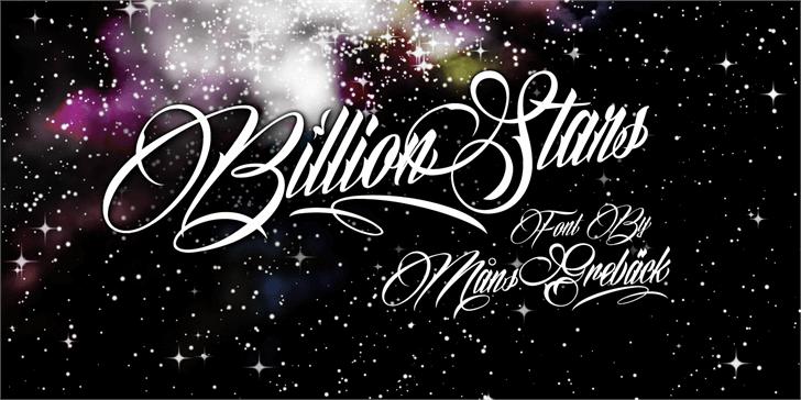 Billion Stars Personal Use  font by Måns Grebäck