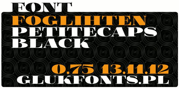 FoglihtenBPS01 Font poster screenshot