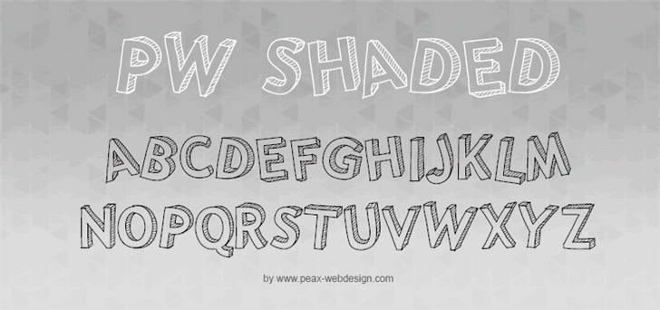 PWShaded Font handwriting text