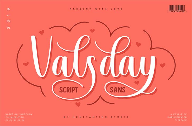 Valsday Script DEMO font by Konstantine Studio
