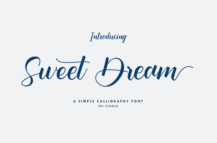 Sweet Dream Font poster