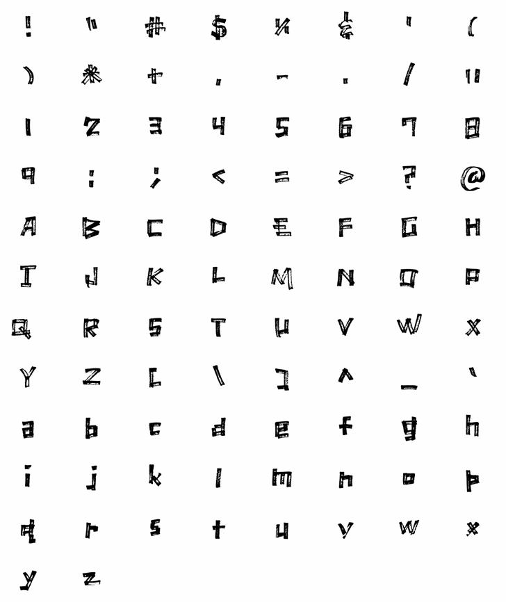 Marker Scratch Font pattern design