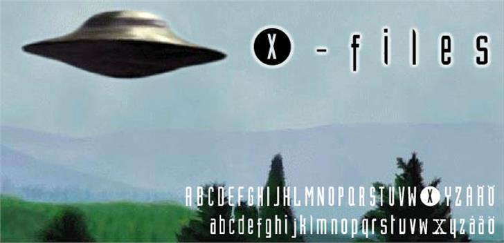 XFiles Font screenshot poster