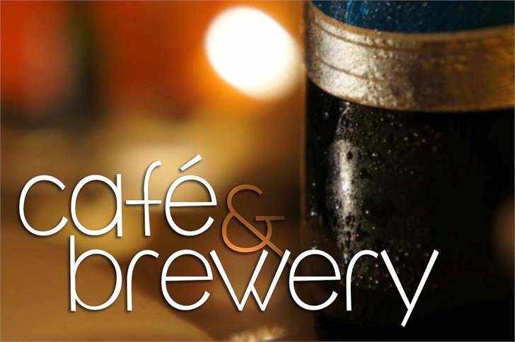 café & brewery font by Brittney Murphy Design