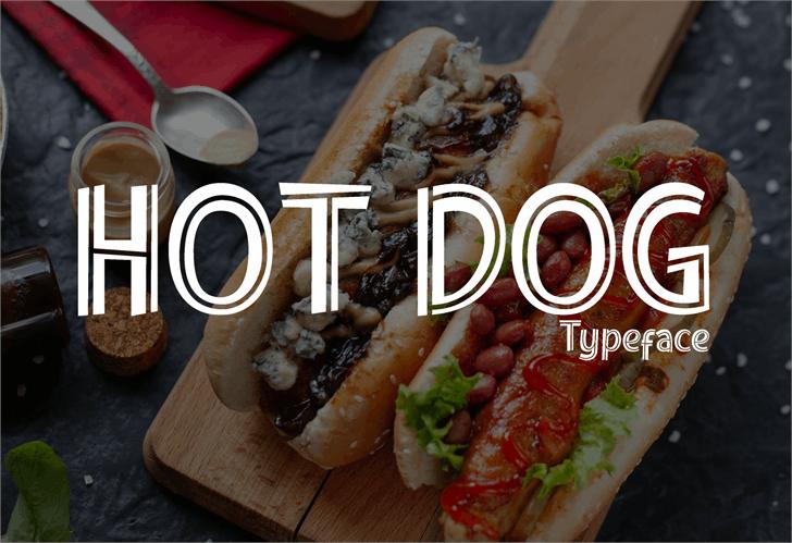 Hot Dog Font poster