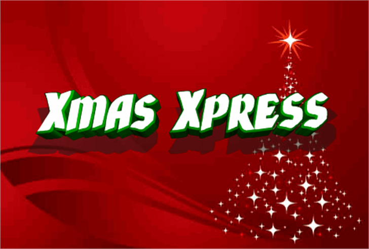 Xmas Xpress Font fireworks design