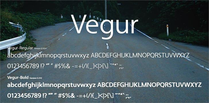 Vegur Font outdoor tree