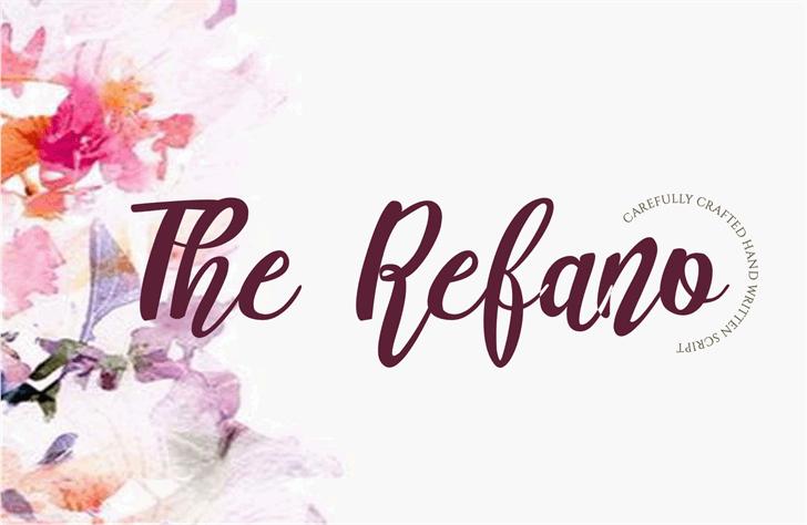 The Refano Font design graphic