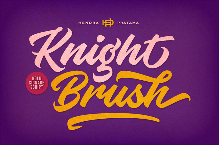 Knight Brush Demo Font design typography
