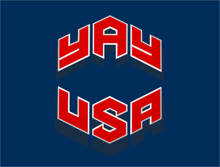 YAY USA font by Iconian Fonts