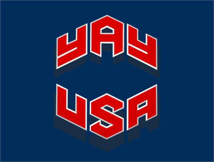 YAY USA Font text design