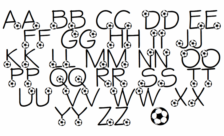 LMS Ethan's Game Font Letters Charmap