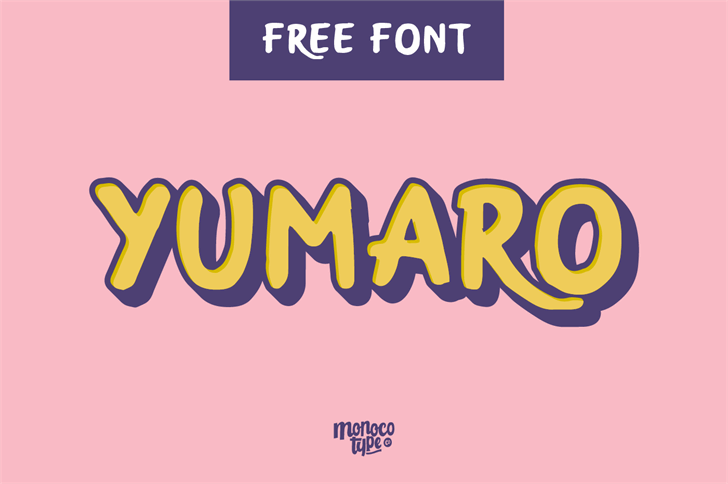 Yumaro Font design screenshot