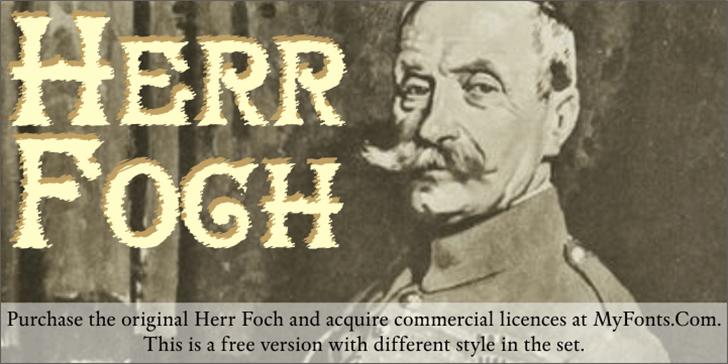 HerrFoch Font text poster