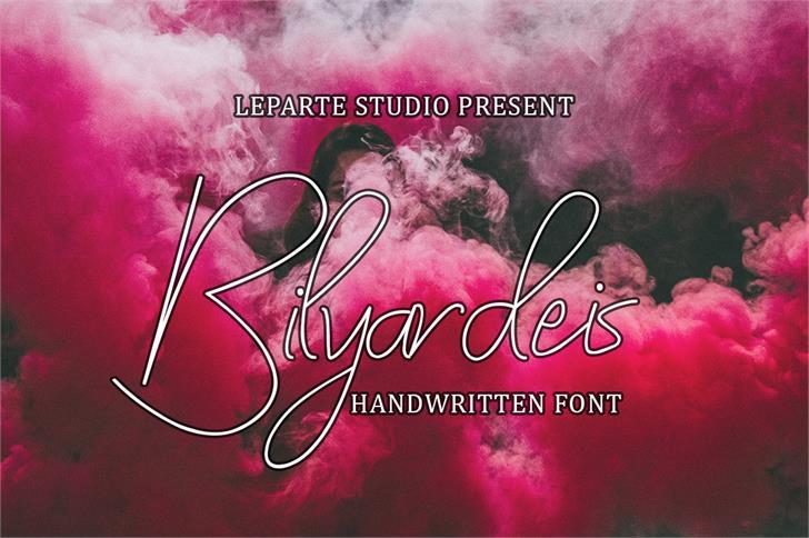 Bilyardeis Font text screenshot