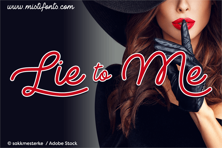 Lie to Me Font wearing fashion accessory