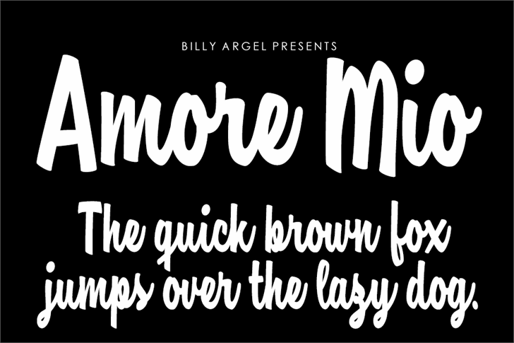 Amore Mio Personal Use Font typography text
