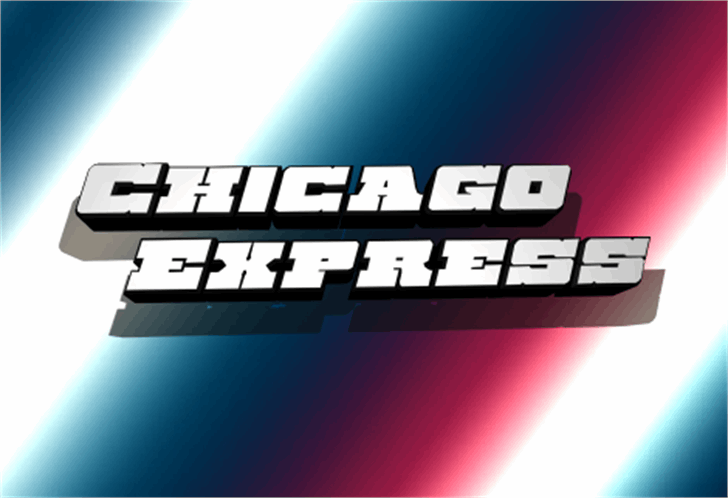 Chicago Express Font screenshot