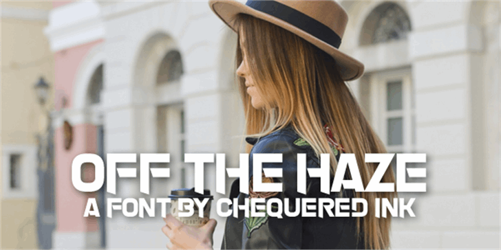 Off The Haze Font building fashion accessory