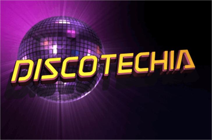 Discotechia Font screenshot dark