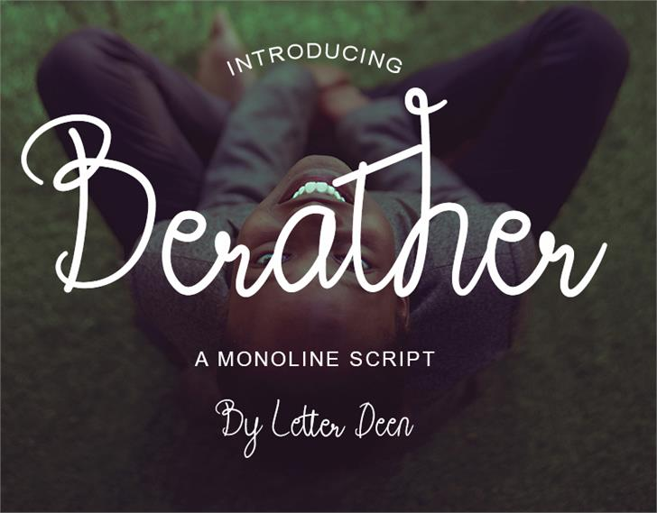 Berather Font poster